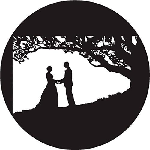 Rosco Kissing Under Tree B/W Wedding Glass Gobo (A Size)