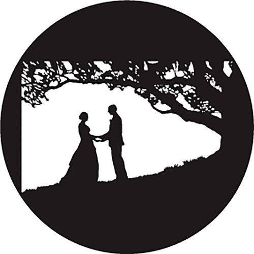 Rosco Kissing Under Tree B/W Wedding Glass Gobo (B Size)