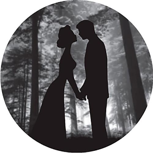 Rosco Kiss Silhouette Under Tree Grayscale B/W Wedding Glass Gobo (Custom Size)