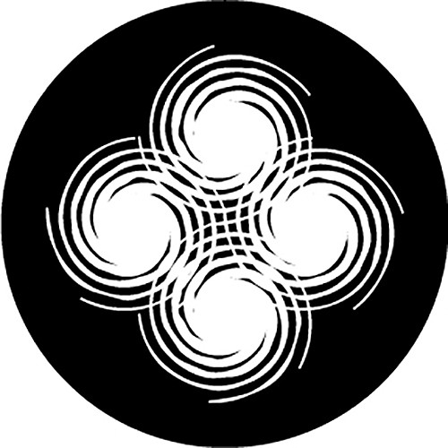 Rosco Spirals B/W Breakup Glass Gobo (B Size)