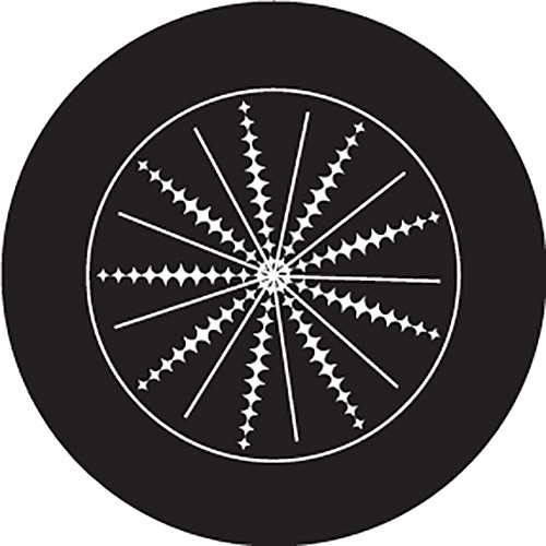 Rosco Spikes Crop Circle B/W Glass Gobo (A Size)
