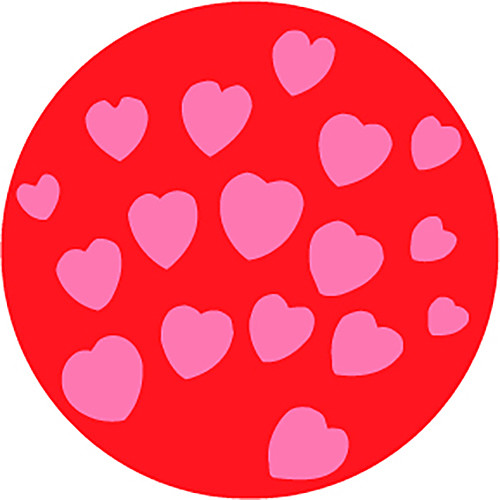 Rosco All My Hearts 2-Color Wedding Glass Gobo (Custom Size)