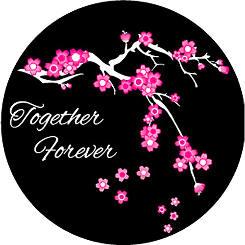 Rosco Forever Blossoms 2-Color Wedding Glass Gobo (A Size)
