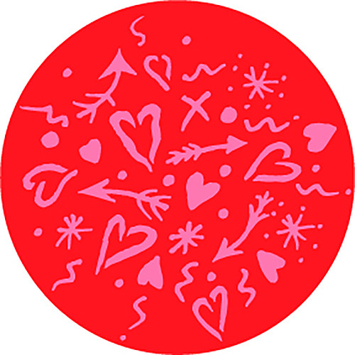 Rosco Love in Color 2-Color Wedding Glass Gobo (A Size)