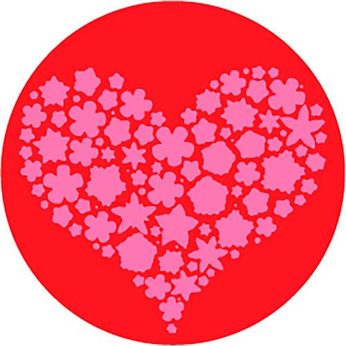 Rosco Filled Heart 2-Color Wedding Glass Gobo (Custom Size)