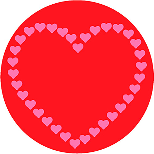 Rosco Heart of Hearts in Color 2-Color Wedding Glass Gobo (A Size)