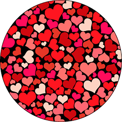 Rosco Red All My Hearts Color Wedding Glass Gobo (A Size)