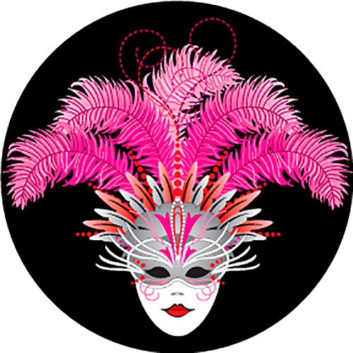 Rosco Carnival Mask Mardi Gras Color Glass Gobo (A Size)