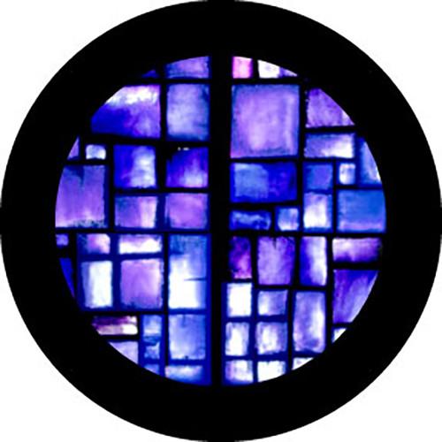 """Rosco Standard Color Glass Spectrum Gobo #86756 Indigo Square Breakup (86mm = 3.4"""")"""