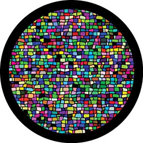 """Rosco Standard Color Glass Spectrum Gobo #86757 Mosaic Tile Breakup (86mm = 3.4"""")"""