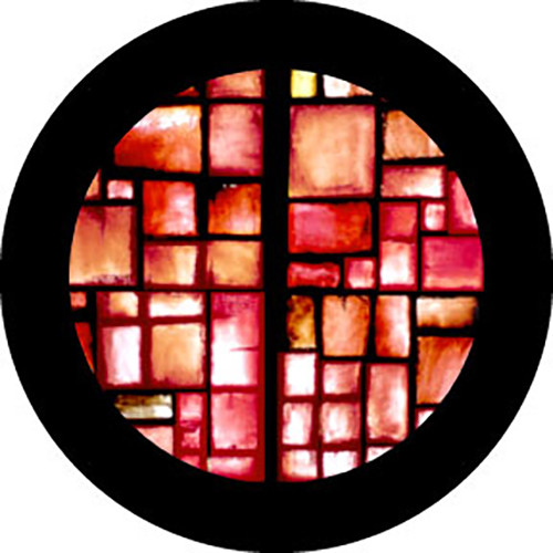 "Rosco Standard Color Glass Spectrum Gobo #86765 Red Square (86mm = 3.4"")"