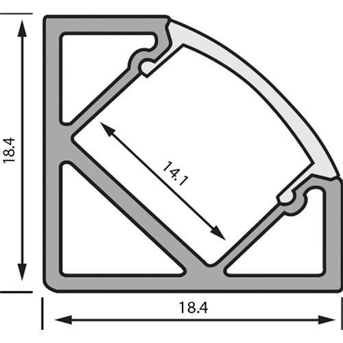 Rosco RoscoLED Tape Corner Profile - 1945 Kit with Clear Lens (3.3')