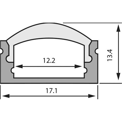 Rosco RoscoLED Tape Rectangular Profile - 1713 Kit with 60° Lens (3.3')