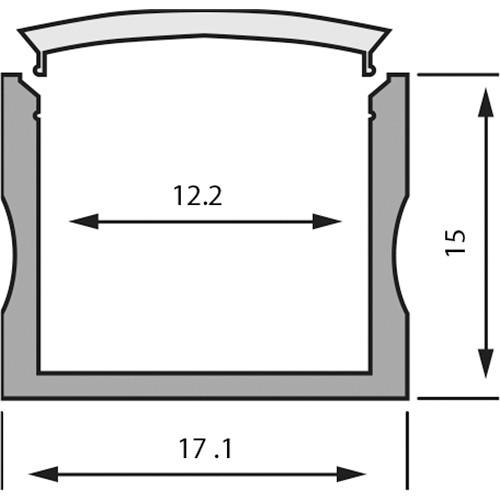 Rosco RoscoLED Tape Rectangular Profile - 1715 Kit with Clear Lens (3.3')