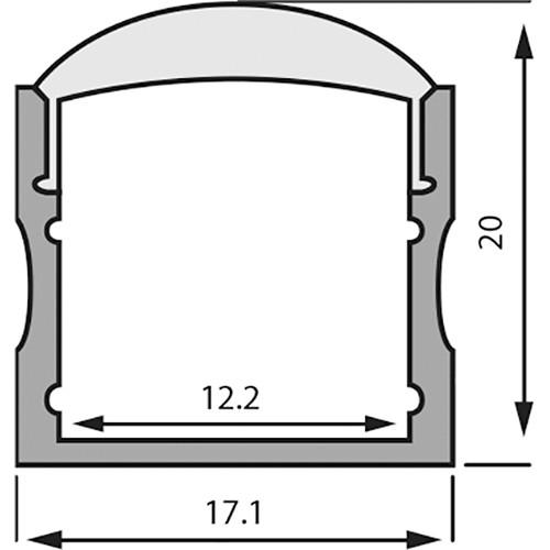 Rosco RoscoLED Tape Rectangular Profile - 1720 Kit with 30° Lens (3.3')