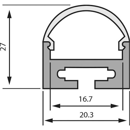 Rosco 2931R2027SPK Suspension Kit for RoscoLED Tape Square Profile 2027