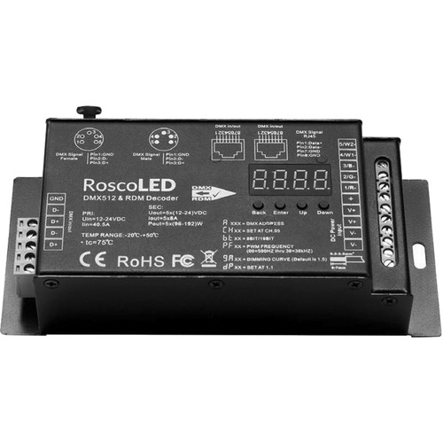 RoscoLED Variable PWM DMX Decoder (5 x 8A)