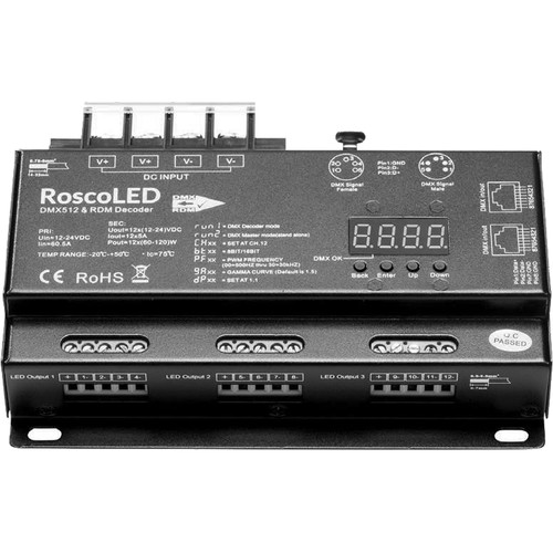 RoscoLED Variable PWM DMX Decoder (12 x 5A)