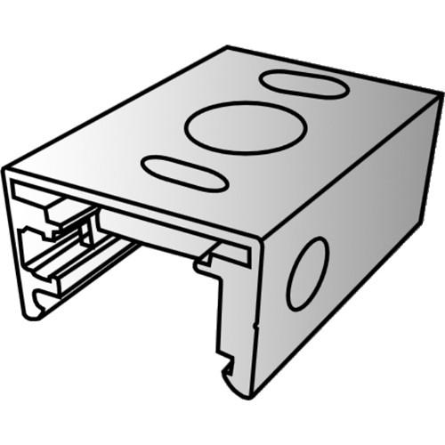 """Rosco 2"""" Mounting Clip for Miro Cube 3/8"""" Diameter Stem (Black)"""