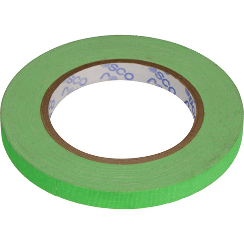 "Rosco GaffTac Spike Tape - Fluorescent Green (1/2"" x 81')"