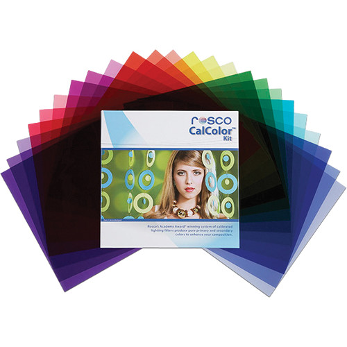 """Rosco CalColor Flash Pack Kit with Gel Wallet (1.5 x 5.5"""")"""
