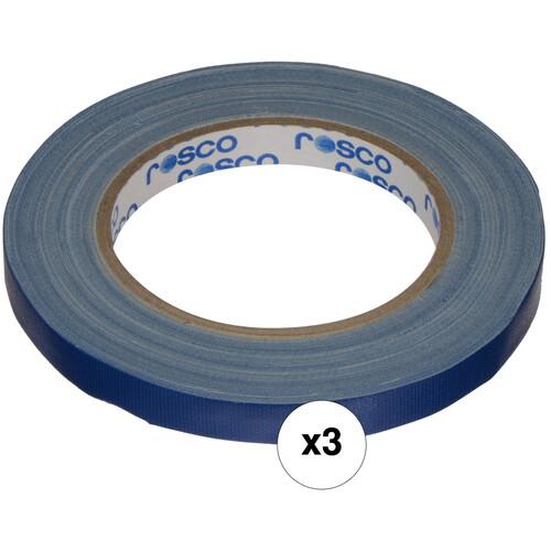 """Rosco GaffTac Spike Tape - Blue (1/2"""" x 27 yd) - 3 Pack"""