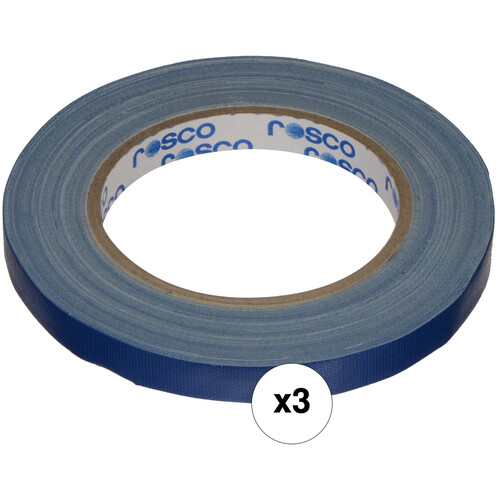 "Rosco GaffTac Spike Tape - Blue (1/2"" x 27 yd) - 3 Pack"
