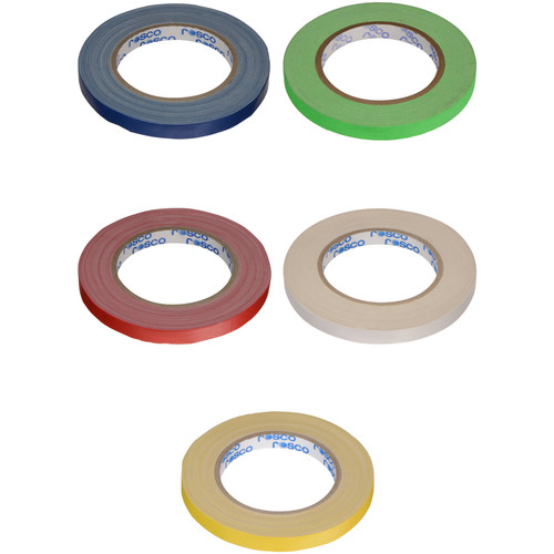 """Rosco GaffTac Spike Tape - Assorted Colors (1/2"""" x 27yd) - 5 Pack"""