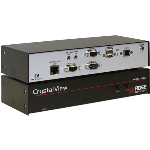 Rose Electronics CrystalView CAT5 Single-Access PS/2 KVM Extender Kit with Serial & Audio