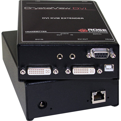 Rose Electronics CrystalView DVI Dual-Head USB 2.0 over CATx Extender Kit (Up to 460')