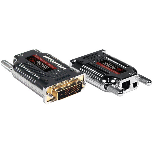 Rose Electronics CrystalView DVI Micro Single-Fiber Multi-Mode Video Extender Kit (Up to 2300')