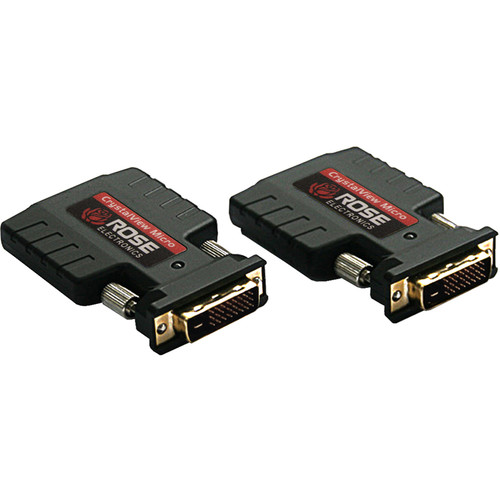 Rose Electronics CrystalView Micro Dual-Link DVI-D Fiber Extender Kit (Up to 1000')