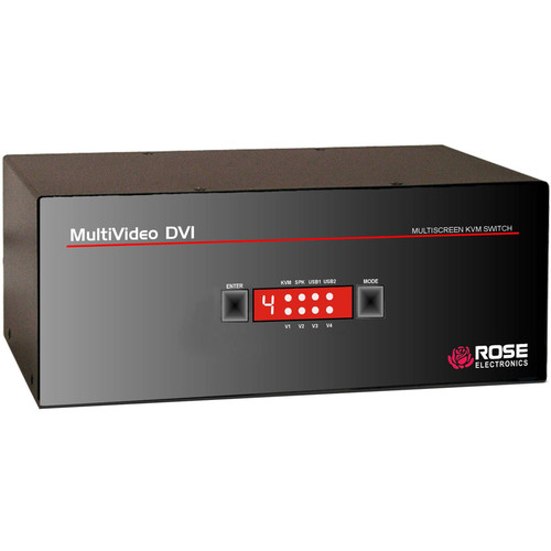 Rose Electronics MultiVideo 1x4 Dual-Link Tri-Video DVI-I Switch