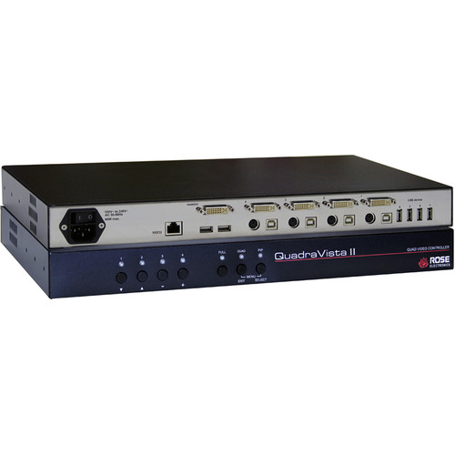 Rose Electronics QuadraVista 2 Professional Quad Video KVM Switch