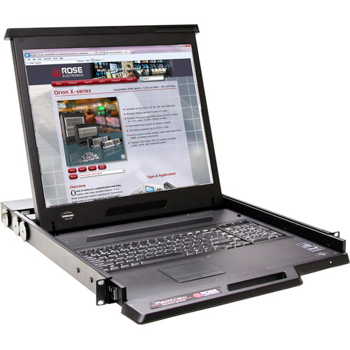"Rose Electronics RackView KVM Rack Drawer with 19"" LCD Monitor"