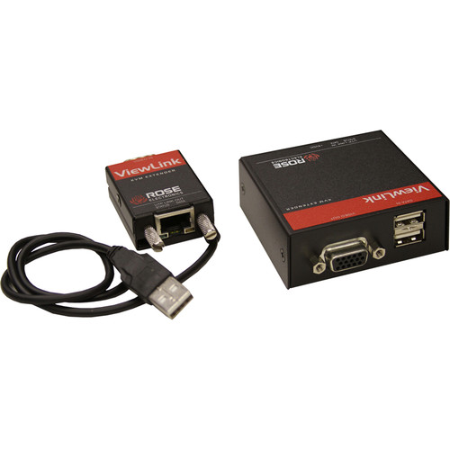 Rose Electronics ViewLink CATx VGA Video Extender with USB Pigtail (Up to 1000')