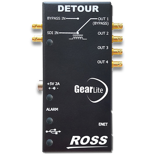 Ross Video GearLite 12 Gb/s 1x4 Distribution Amplifier with Relay Bypass