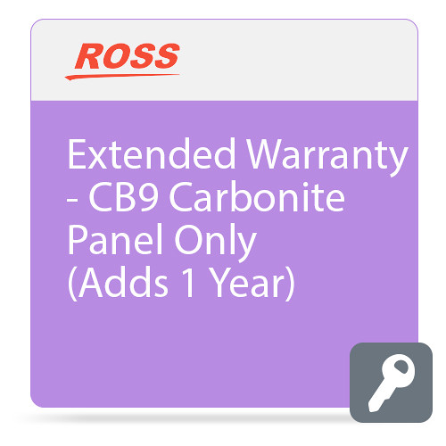 Ross Video Extended Warranty for CB9 Carbonite Control Panel