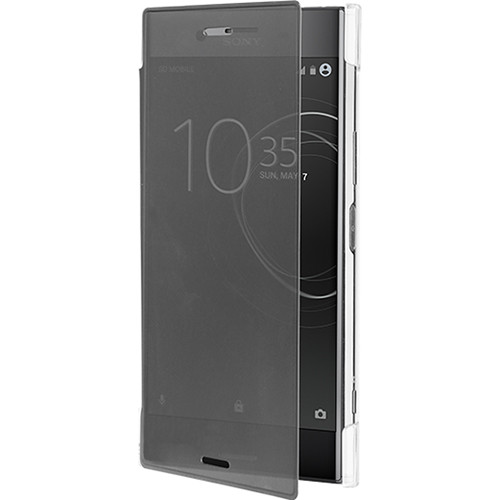 roxfit Pro Touch Book Case for Sony Xperia XZ Premium (Black/Clear)