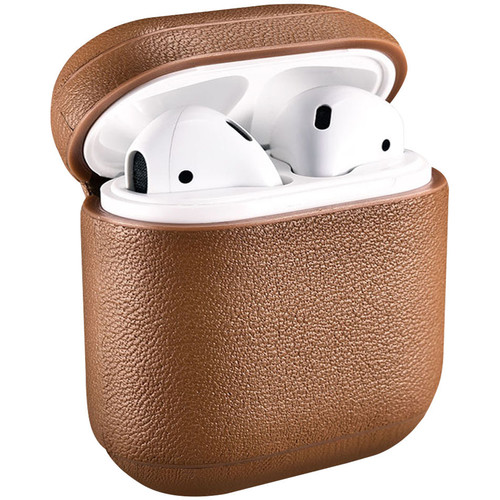 Royal Individual AMZELCLP-1BRN Speckle Collection Nappa Leather Grain Texture AirPods Case (Brown)