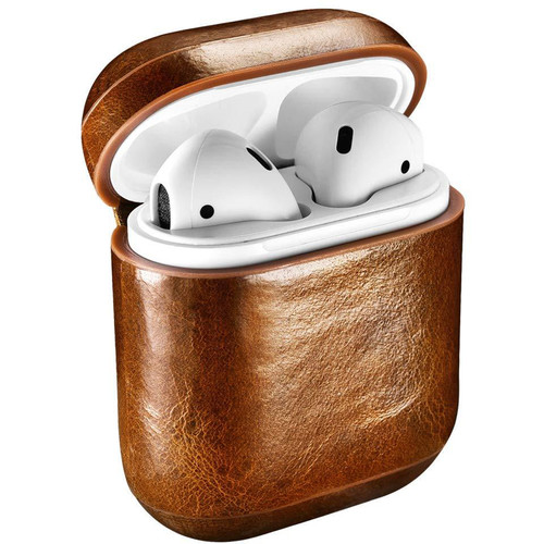 Royal Individual Executive Series Leather Case for Apple AirPods (Brown)