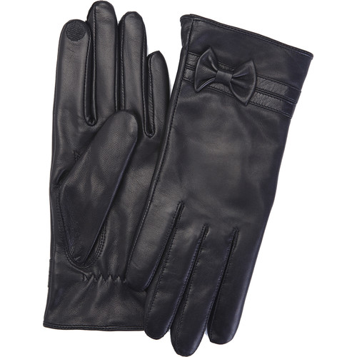 Royce Leather Products Women's Large Lambskin Leather Touchscreen Gloves (Black)