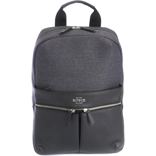 "Royce Leather Products Charged Up Dual-Port Power Bank Charger Backpack for 15"" Laptop"