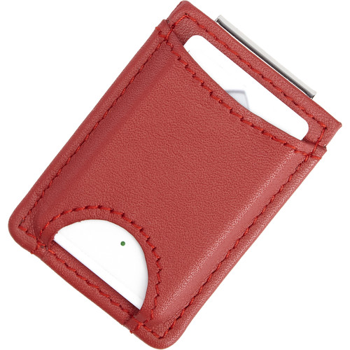 Royce Leather Products Bluetooth Tracking Leather Wallet with Money Clip (Red)