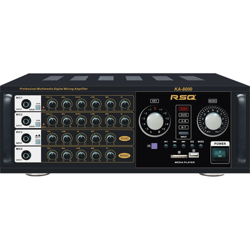 RSQ Audio KA-8000 1100W Professional Mixing Amplifier with Bluetooth