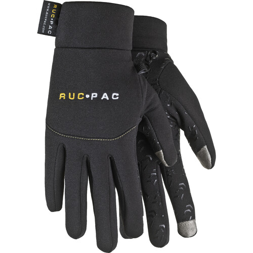 RucPac Professional Tech Gloves for Photographers (Small, Black)