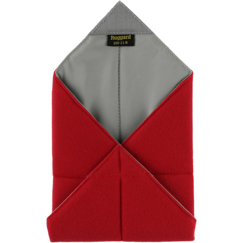 """Ruggard 11 x 11"""" Padded Equipment Wrap (Red)"""