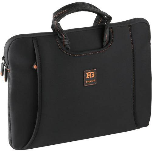 "Ruggard 14"" Ultra Thin Netbook Sleeve with Handles (Black/Orange)"