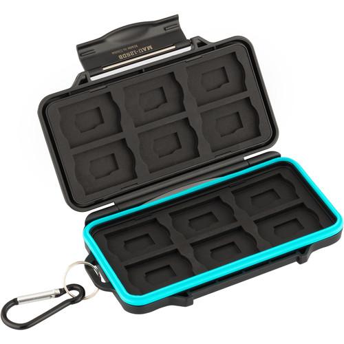 Ruggard Leda Memory Card Case for 12 SD/12 microSD Cards (Black)