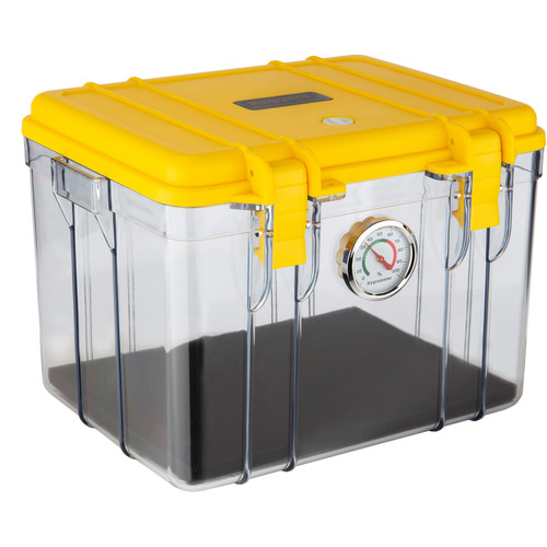 Ruggard Portable Dry Case (Clear/Yellow, 8.5L)